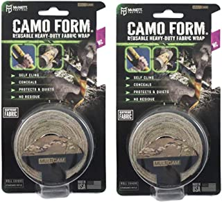 McNett Tactical Camo Form Multicam Cling Wrap Reusable Heavy Duty Fabric Wrap - 2 Pack