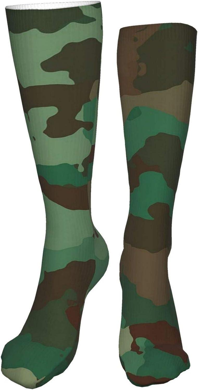 Camouflage Women Premium High Socks, Stocking High Leg Warmer Sockings Crew Sock For Daily And Work