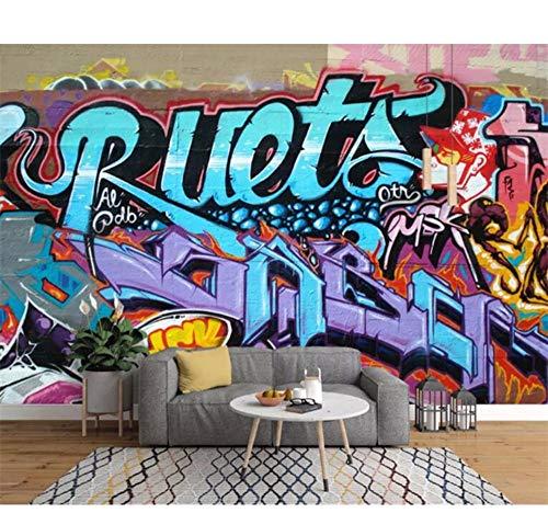 Ytdzsw Personnalisé Peinture Murale Rétro Art De Mode Graffiti Alphabet Brique Mur Papier Peint Décor À La Maison Pour Le Salon Photo Papier Peint Murale-300X210Cm