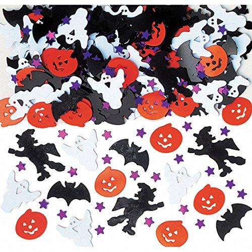 Amscan International 36702 Confetti Lumineux Ensemble de décoration de Nuit d'halloween