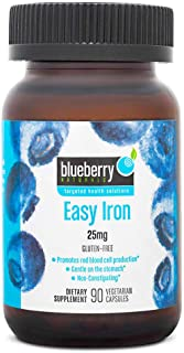 Blueberry Naturals Easy Iron 25 mg Vegetarian Capsules 90's