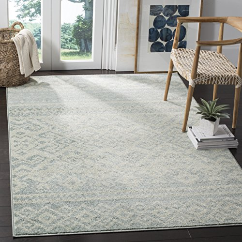 Safavieh Adirondack Collection ADR107T Slate and Ivory Rustic Bohemian Area Rug (9' x 12')