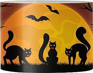 UOIMAG Abat-jour pour lampe de bureau motif chat noir - Décoration d'intérieur pour chambre à coucher