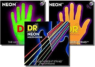 DR String NYE-10 Neon Yellow Juego Cuerdas Eléctrica