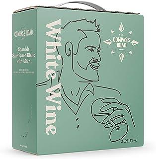 Amazon-Marke - Compass Road Weißwein Sauvignon Blanc mit Airén trocken, Spanien Bag in Box, 5L
