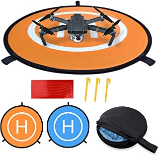 POKONBOY D75cm Drone Landing Pad for DJI Mavic Pro, DJI Spark, Phantom 3 Phantom 4 Inspire 1 and All Other Quadcopters