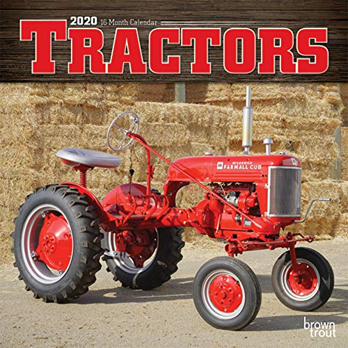 Tractors 2020 7 x 7 Inch Monthly Mini Wall Calendar, Farm Rural Country