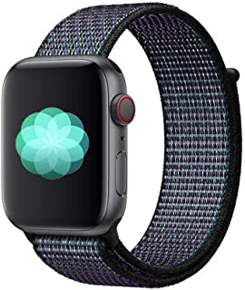 Nylon Sport Band for Apple Watch 44mm 42mm, Soft Replacement Strap for iWatch Series 4/3/2/1 (Hyper Grape)