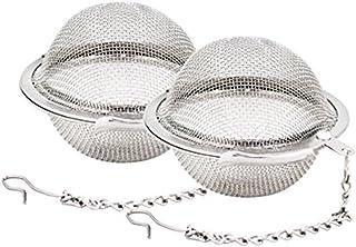 Vi.yo 茶漉 茶葉ストレーナー 茶溜めカップ 茶葉濾過 球形 メッシュチェーン付き