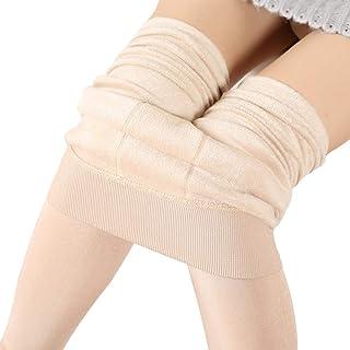 Comcrib Damen Dicke Kompressionsleggings Winter Samt Thermal Underwear Super Dick Leggings Dehnbar Hose Elastizität Hüfthe...