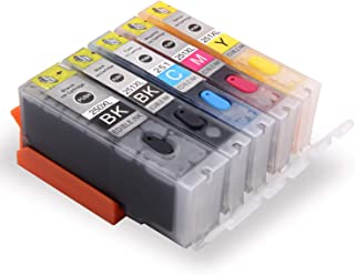 Topcolor Compatible Edible Ink Cartridges Replacement for PGI-250 CLI-251 Use for PIXMA MX922 MX722 MG5420 MG5520 MG5620 MG6620 IP7220 IX6820 Printer, 5 Pack (1 PGBK 1 Black 1 Cyan 1 Magenta 1 Yellow)