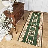 alfombra pasillo verde