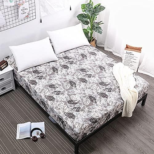 XGguo Protector de colchón Acolchado - Microfibra - Funda para colchon estira hasta Sábana Impermeable Cubierta de Cama para orinar-5_80cmX200cmX30cm