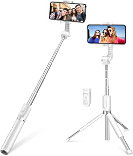 Selfie Stick Bluetooth, BlitzWolf 90cm Super Long Length Extendable Selfie Stick with Wireless Remote and Tripod for iPhon...