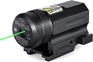 CISNO Tactical Green Laser Light with Weaver and Picatinny Quick Release Rail Mount for Pistols & Shotguns