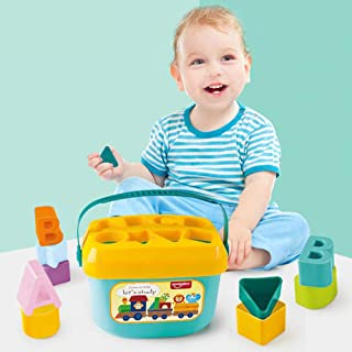 Baby's First Blocks Learning Shape Sorting- Educational Activity Toys with 16 Building Blocks