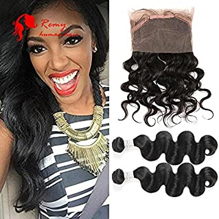 CZ Hair CZ Hair 360 Closure Brazilian Body Wave Virgin Hair 360 Lace Frontal Closure Natural Hairline Circular Closure (18 20 with 16 inch 360 closure)