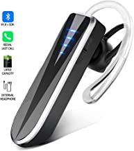 Bluetooth Headset, Handsfree Earphone Binaural Stereo Wireless in-Ear Headphones with 24-Hr Playing Time, Car Bluetooth V5.0 Earpiece with Noise Cancelling Mic. for iPhone iPad Samsung Android