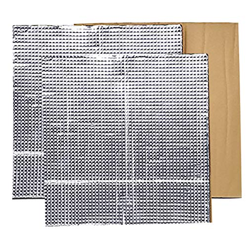 """PAGOW 3D Printer Heated Bed Insulation Mat, 12"""" x 12"""" x 0.3"""" Foam Foil Self-Adhesive Insulation Cotton Sticker Hotbed Thermal Pad for Creality CR-10 Reprap Ultimaker Makerbot - 2 Pack"""