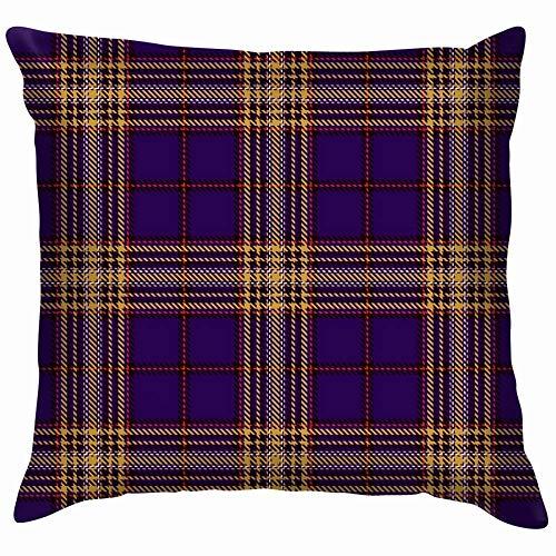 DJNGN Luxurious Throw Pillow Cover,Premium Square Pillow,Decorate Pillowcase,Sofa Cushion Case,Car Pillow Cushion Cover,Tartan Black Red Plaid