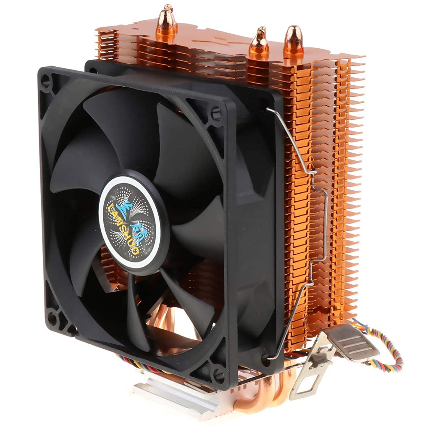 kesoto 4 Wire CPU Cooling Fan Heatsink Kit with Fins for Desktop Computer Motherboard Cooler Accessory 3Pin 12V 2200RPM 48CFM