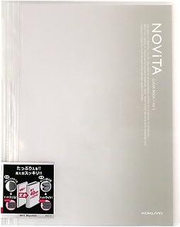 コクヨ ファイル クリアファイル ノビータ 固定式 A4 20ポケット 透明 ラ-N20T