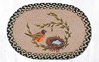 Earth Rugs 48-121RN Placemat, 13 x 19, Black