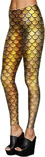 M-ONEZOU Colorfull Fish Scale Simulation Mermaid Women Leggings 3D Digital Print Leggins Fitness Legging Summer Girls