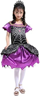KONFA Teen Girls Halloween The Queen of The Spider Cosplay Dresses,Little Princess Masquerade Skirt Gown Costume Set