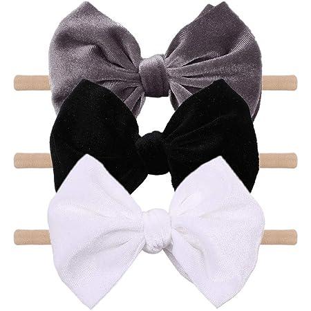 Hand Tied Bow Velvet Headband Baby Bow Toddler Bow Headband Holiday Headband Newborn Headband Baby Headband Velvet Bow