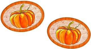 Thanksgiving Melamine Platter Dish Set of 2 Large Oval Fall Harvest Pumpkins (Pumpkin Rustic Wood Quotes)