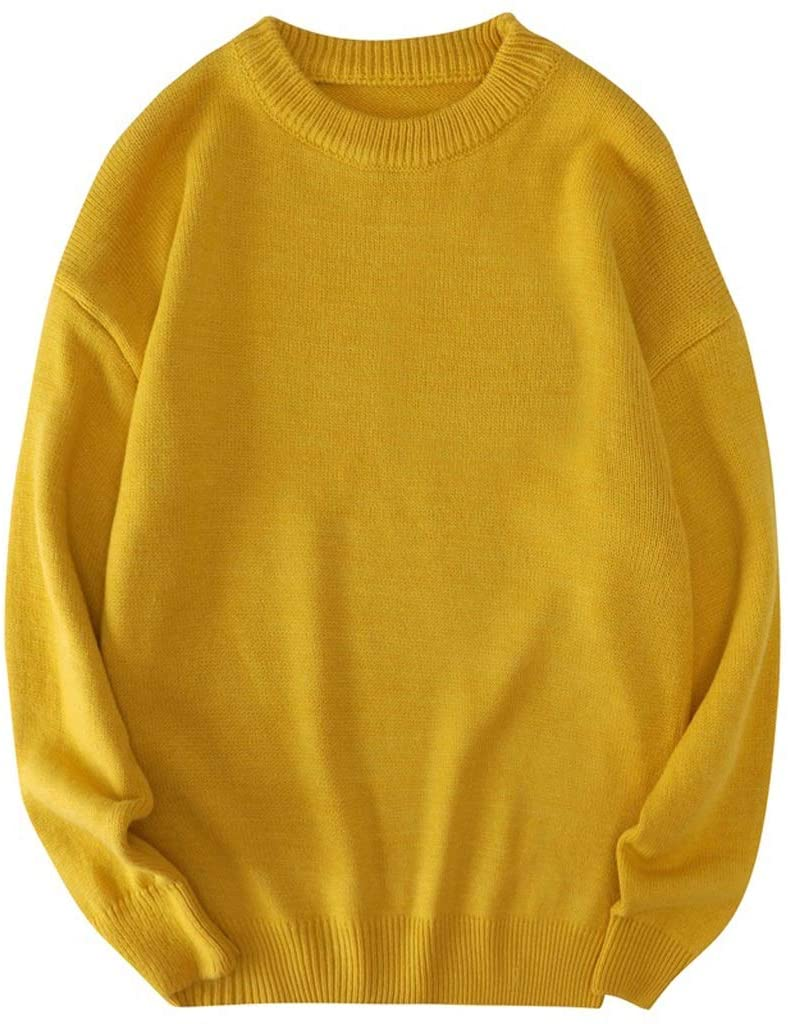ZYING Big Size Men Sweater Korean Clothes Men's Jumpers Oversized Mens Sweaters Pullover Knitted Streetwear Comfortable Soft Knitwear (Color : B, Size : 7XL-length-71CM)