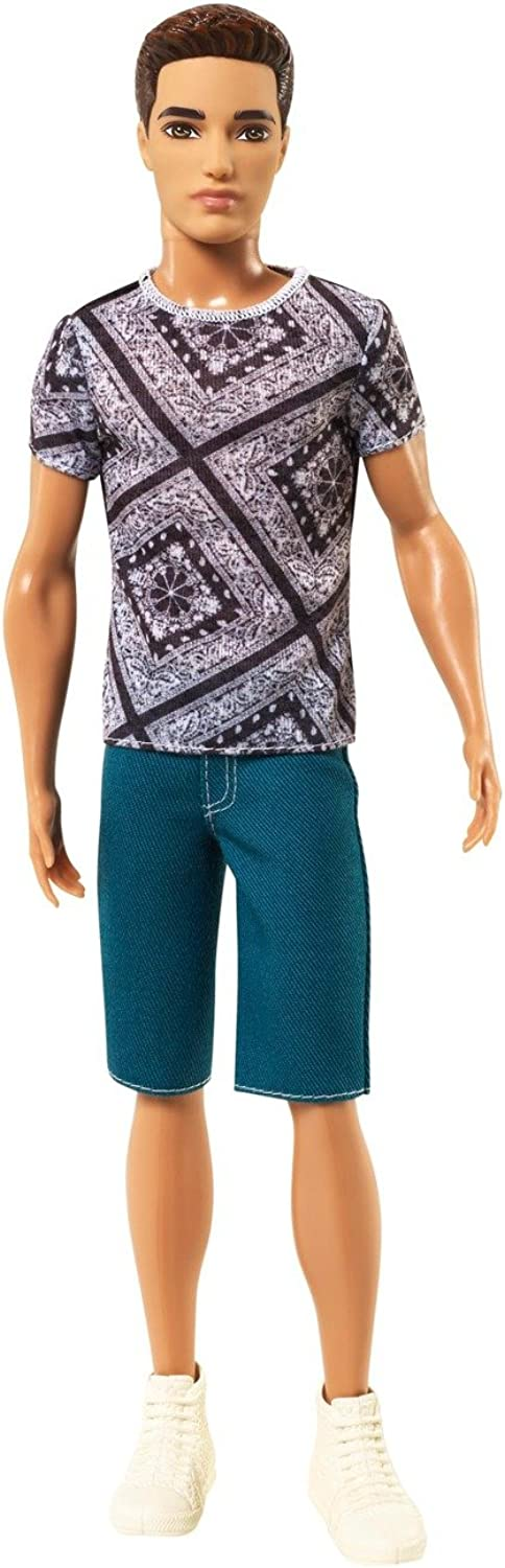 Barbie Fashionista Ryan Doll, Jean Shorts and Shirt