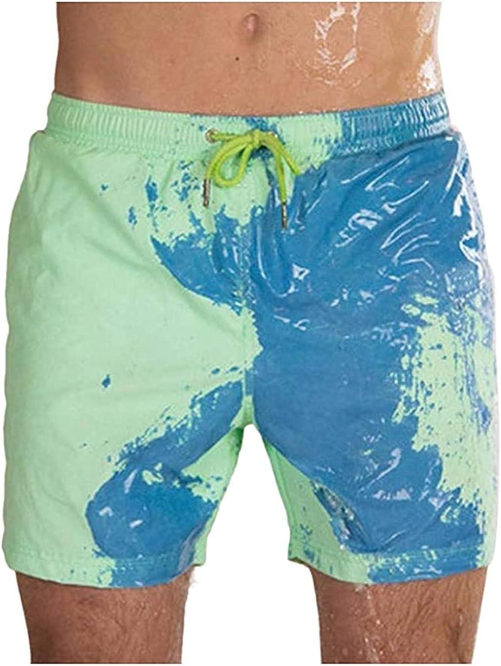 EaGo Color Changing Swim Trunks– Malbaba Temperature Sensitive Beach Swim Shorts