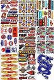 DD Set Konvolut 9 hojas de patrocinadores adhesivos ATV Motocross pegatinas 270 mm x 180 mm resistente a la intemperie