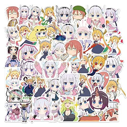Anime Sticker Miss Lin'S Cameriera Cute Girl Sticker Skateboard Laptop Bagagli Impermeabile Autoadesivo Giocattolo 50 Pz