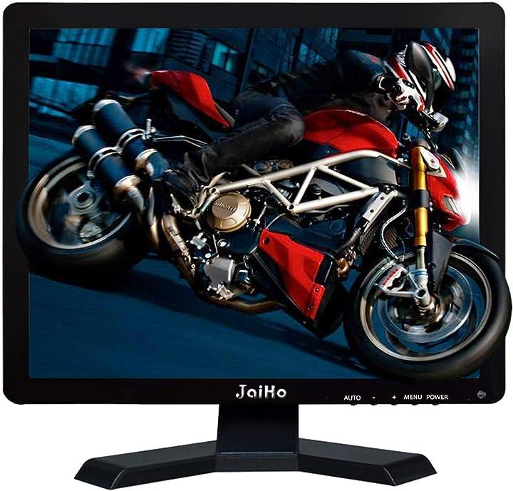 Monitor lcd da 19 pollici risoluzione 1280x1024 schermo 4: 3 fhd 1080p hd video audio display jaiho B07NWJ55CF