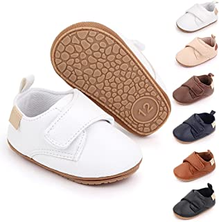 Sponsored Ad - Meckior Infant Baby Boys Girls Classic PU Leather Wedding Loafers Brogue Toddler Oxford Dress Shoes First S...