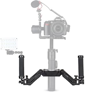 EACHSHOT Z-Axis 5 Axis Spring Dual Handle Grip Handheld Handlebar Kit for Gimbal Zhiyun Crane Plus/Crane 2/Crane V2/Feiyu a1000/a2000/Gusen MOZA Air Aircross (Not Support DJI Ronin-S)