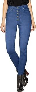 HyBrid & Company Womens Super Stretch 5 Button High Waist Skinny Jeans