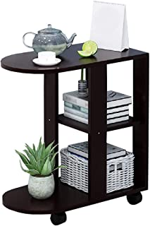 End Tables YXX- Small Couch with Wheels, Wood 3-Tiers Coffee Side Table for Living Room Sofa, Modern Accent Furniture Night Stand (Color : #2)