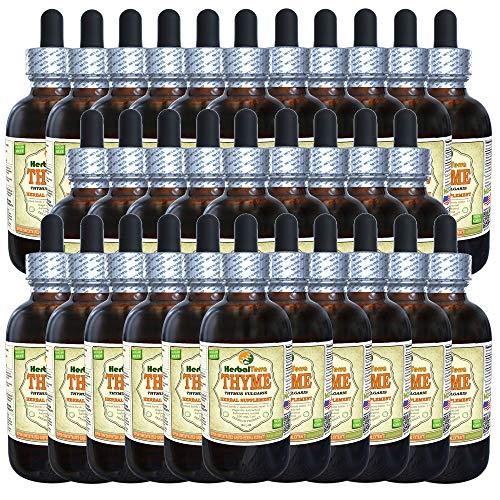Lemon Thyme (Thymus x Citriodorus) Tincture, Organic Dried Herb Liquid Extract (Brand Name: HerbalTerra, Proudly Made in USA) 30x2 fl.oz (30x60 ml)