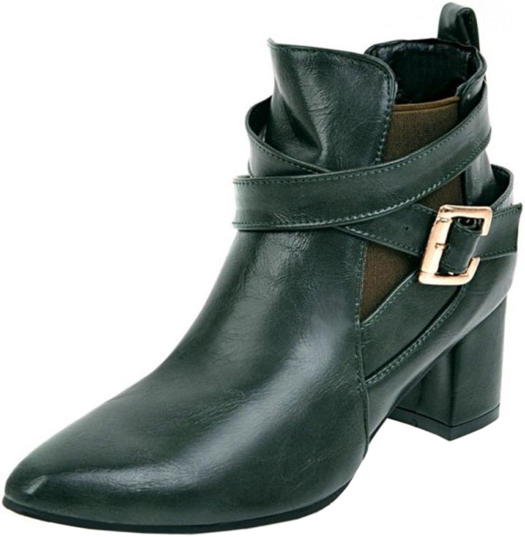 KemeKiss Women Fashion Bootie Slip-On Monk-Strap