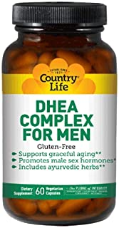 Country Life DHEA Complex Supplement, 60 Vegetarian Capsules (Supports Prostate Health, High Energy Levels & Healthy Skin)...