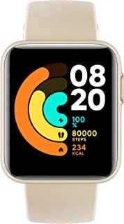 Xiaomi Mi Smart Watch Lite Ivory - 1.4 Inch Touch Screen, 5ATM Water Resistant, 9 Days Battery Life, GPS, 11 Sports Mode, ...