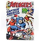 TPACC iPad 10.2 Case 2019 iPad 7th Generation Case, Cartoon Comic Superhero Alliance Design Leather Flip Stand Case Cover for Apple iPad 7th Gen 10.2 Inch 2019 (A2197 A2198 A2200)