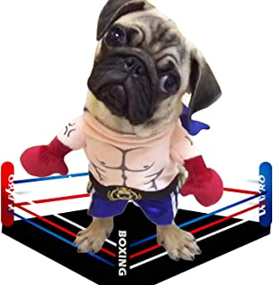 zuizay - Pet Boxer Costume Clothes for Dogs Pugilism Cosplay Suit Funny Boxing Clothing Cat Apparel Halloween Outfit