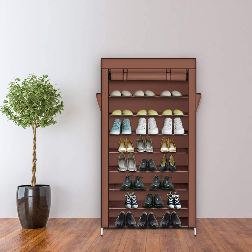 Shoe Storage Cabinet 10 Sales Tiers 45 Award-winning store Rack with Mocha Dust Pairs