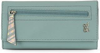 Baggit Spring-Summer 2020 Faux Leather Women's 3 Fold Wallet (Blue) (Lwxe Verty)