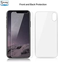 SHARKSBox iPhone X/Xs Screen Protector for Apple iPhone Xs/iPhone X HD Clear Front Back Tempered Glass Screen Protector[Case Friendly] Glass Screen Protector Compatible iPhone Xs/iPhone X 5.8 inch